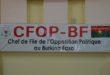 Politique: Bientôt la construction d'un nouveau siège pour le CFOP
