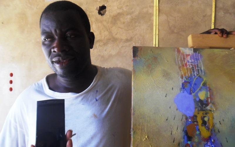 Le peintre Christophe Sawadogo est le promoteur du Centre Les Ateliers Maaneere