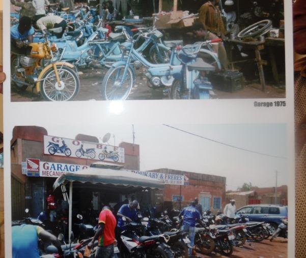 Ici, une vue comparative des motocyclettes d'il y a 30 à 40 ans et celles d'aujourd'hui