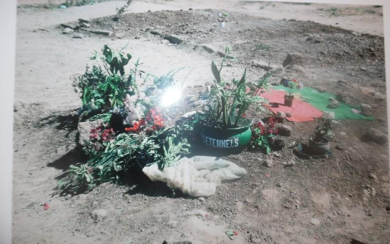 Ce qui faisait office de pépultre des restes des victimes du 15 octobre